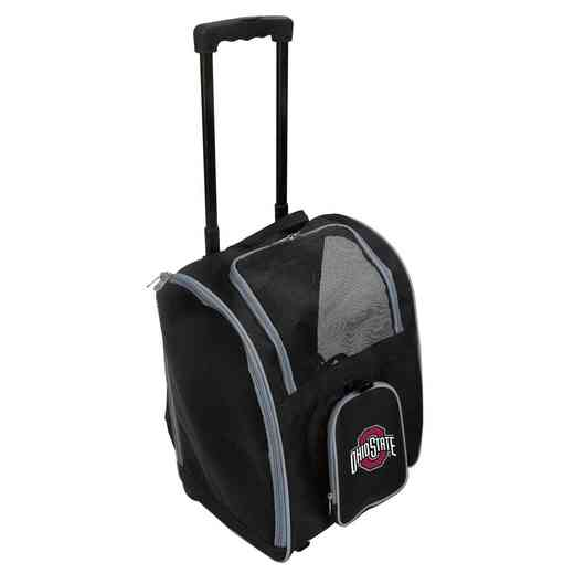 CLOSL902: NCAA Ohio ST Univ Buckeyes Pet Carrier Premium bag W/ wheels